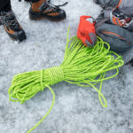 Ice climbing on Solheimajokull glacier