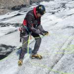 Ice climbing on Solheimajokull glacier