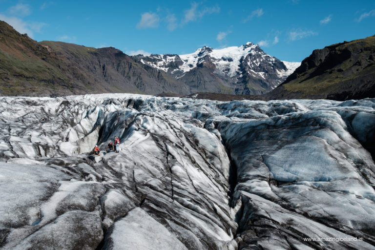 Svinafellsjokull glacier in Skaftafell nationalpark