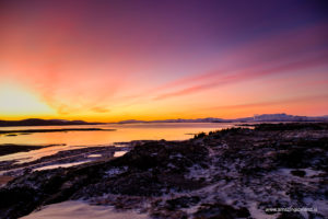 Sunset at Thingvellir national park