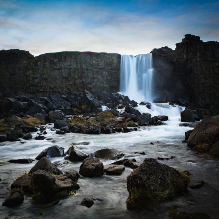 Oxara waterfall at Thingvellir national park