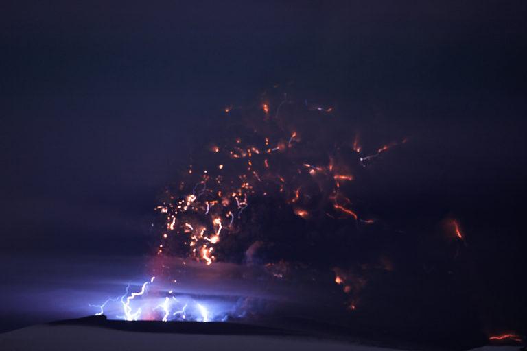 Lightning in Eyjafjallajokull