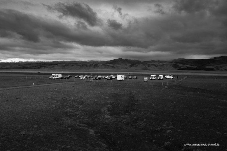 Plane wreck car park on Sólheimasandur on south coast of Iceland