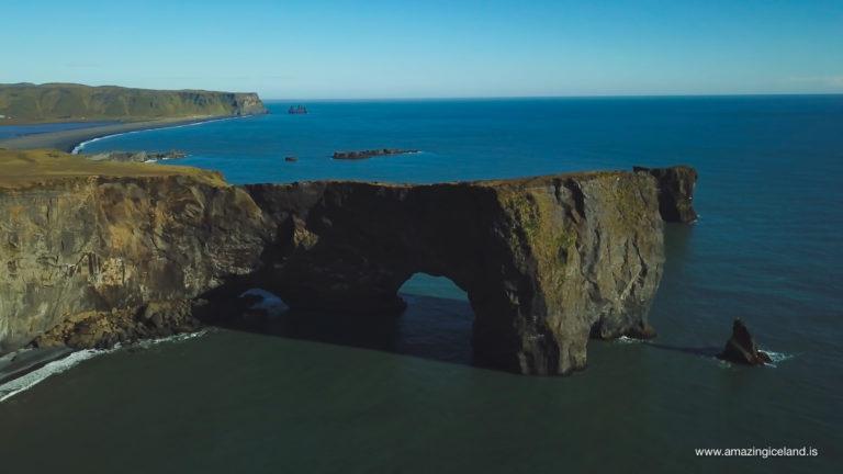 Aerial view of Dyrhólaey