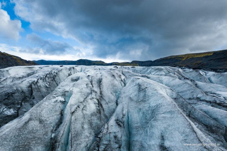 Sólheimajökull glacier on south coast of Iceland
