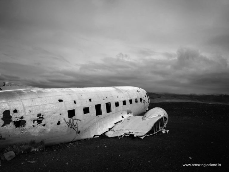 Plane wreck on Sólheimasandur on south coast of Iceland