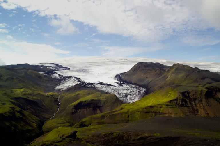 Mýrdalsjökull and Sólheimajökull