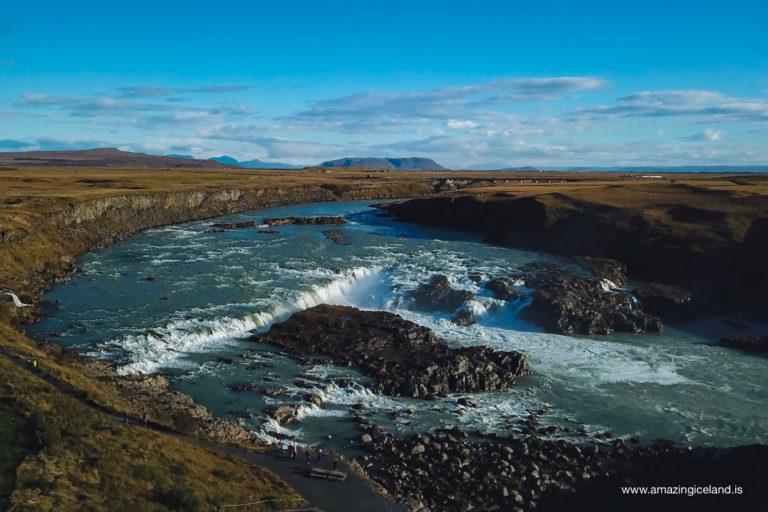 Urriðafoss from air