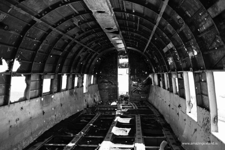 Inside Douglas C-117 Plane wreck on Sólheimasandur