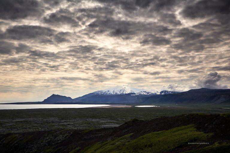Snæfellsjökull glacier in Snæfellsnes peninsula Iceland