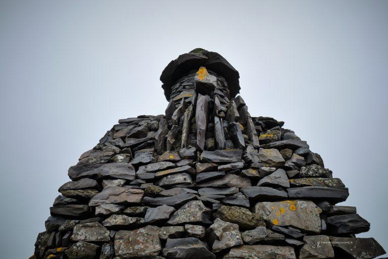 Sculpture of Bárður Snæfellsás in Snæfellsnes Iceland