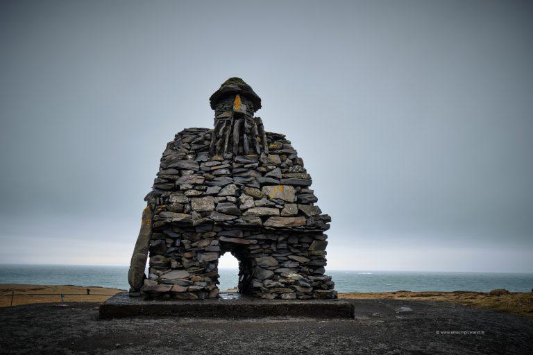 Bárður Snæfellsás sculpture in Snæfellsnes Iceland