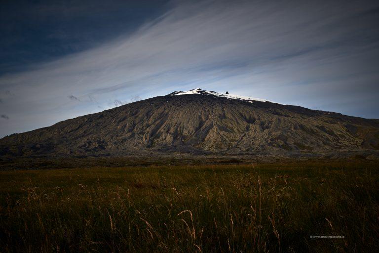 Snæfellsjökull glacier in Snæfellsnes Iceland