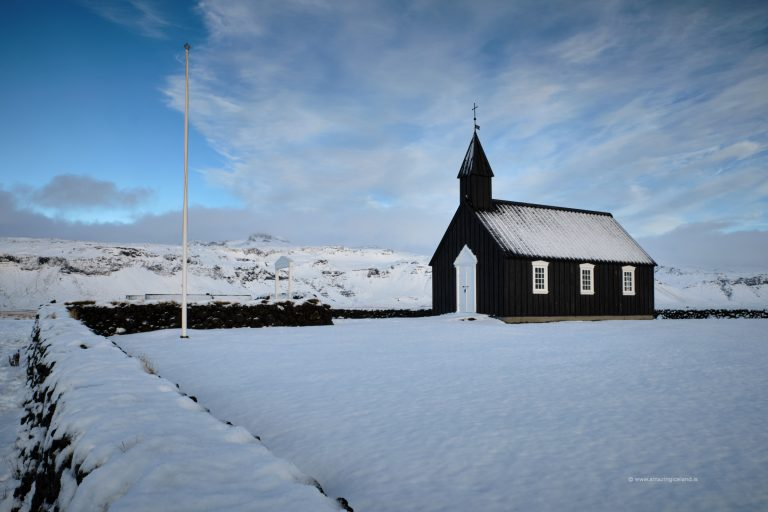 Winter at Black church in Budir