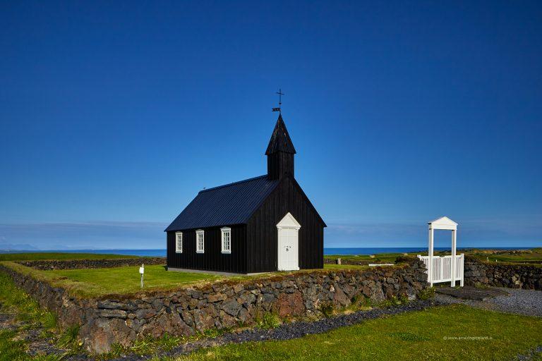 Black church at Budir