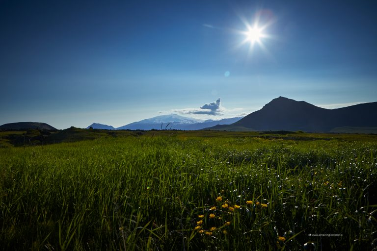Snæfellsjökull and Budir lava field