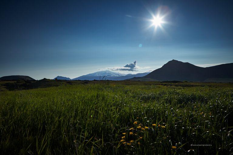 The Glacier and volcano Snæfellsjökull