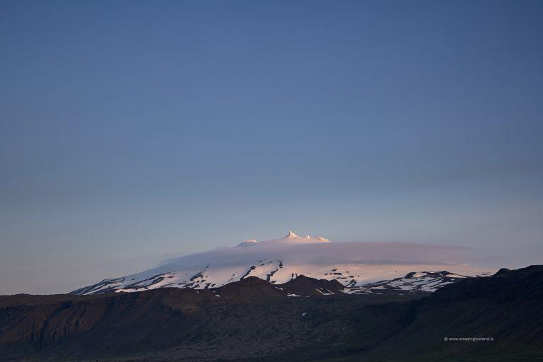 The stratovolcano Snæfellsjökull in Snæfellsnes Iceland