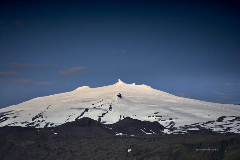 Snæfellsjökull glacier and stratovolcano in Snæfellsnes west Iceland