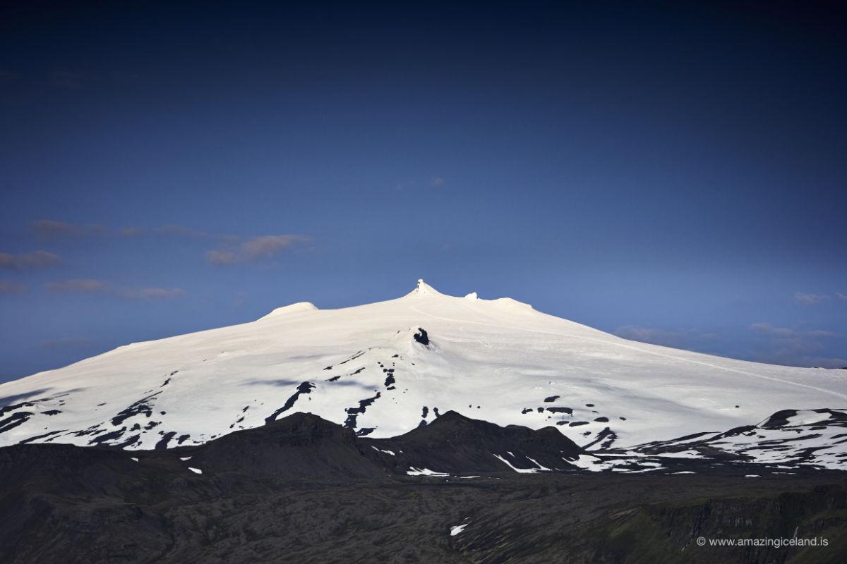 Snæfellsjökull glacier in Snæfellsnes west Iceland
