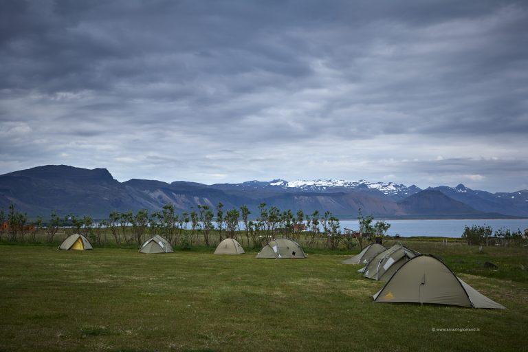 Campground at Arnarstapi in Snæfellsnes Iceland