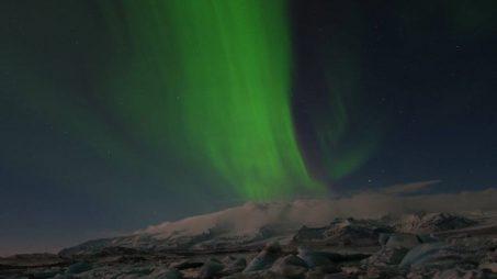 Northern Lights at Jökulsárlón Glacier Lagoon 001